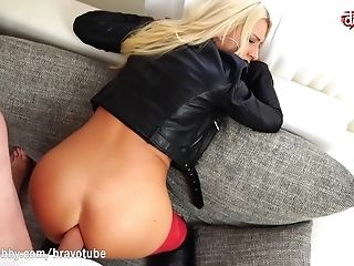 Decadent Blonde With Big Tits Doing Anal Invasion With A Truck Driver