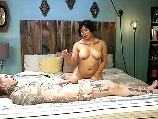 Buxom Mia Little Pegs An Inked Dude Before Getting Fucked