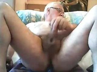 Grand-pa Spunk On Web Cam