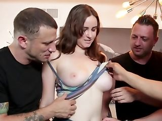Gang-bang Movie Of Youthfull Colleen Dual Penetrated In The Bedroom
