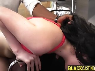 Pleasant Teenager Wears Glasses To Get Fucked By Her Black Manager