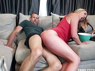 Hot Blonde Gets Laid With Best Friend's Horny Hubby