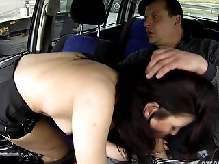 Black-haired Hooker Doesn't Mind Serving Customer In The Car