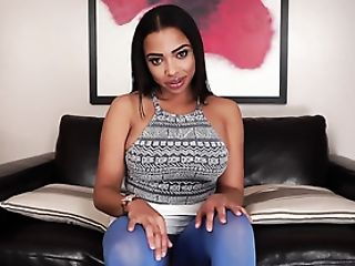 Sexy Little Mini-skirt And A Halter Top On This Gorgeous Black Woman