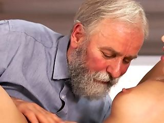 Charming Blonde Fucked By Bf's Old Stepfather On Her Bday