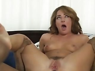Devilsgangbangs Double Penetration'd Squirting Tart Loves Big Black Cock's