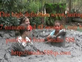 Three Stooges Submerge In Mud