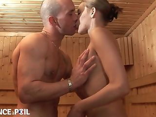 Horny Chick Crazy Sauna Bang-out Scene