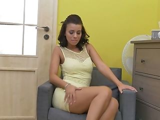 Sex-positive Chick Vicky Love Is Playing With Her Thirsty Crevice Spreading Gams Broad Open