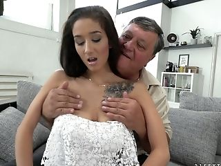 Old Sugar Patriarch Loves Fucking Lovely Dark-haired Honey With Yummy Boobies Darcia Lee