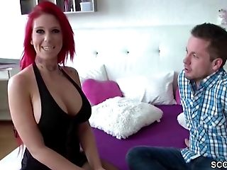 German Sandy-haired Teenage With Big Tit Beim User Date