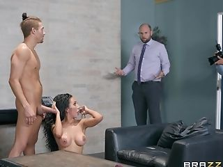 Office Whore Amia Miley Caught Getting A Facial Cumshot While At Work