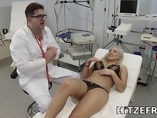 Jizz On The Nurse - Lilli Vanilli Medical Kink Orgy