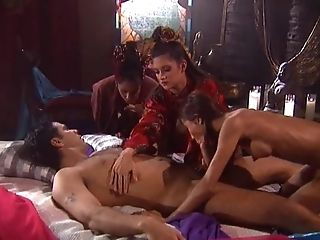 Having His Chisel Pleasured By Lana Sands And Other Beauties