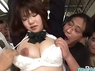 Obsession Japanese Group Fuck-a-thon With Asian College Girl Groped On Public Bus