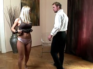 Nasty Female Helena Sweet Loves Getting Her Round Booty Spanked