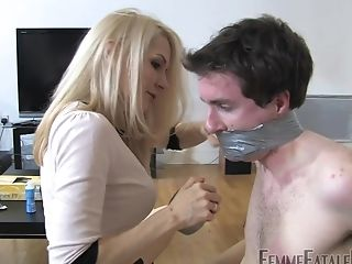 Mistress Eleise De Lacy Violently Penetrates Her House Boy From Behind