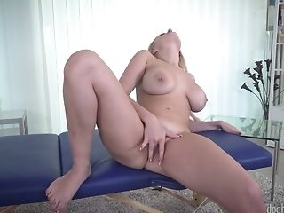 Ardent Big Titted Blondie Head Carol Golden Loves To Work On Her Meaty Cunt