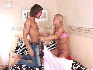 Skinny Jolanda H Lets A Horny Friend Fuck Her Petite Asshole