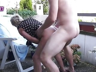 Matures Duo Balcony Fuck