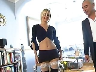 Blonde Nubile Super-bitch Suzie Best Lifts Up Her Gams And Gets Pounded Hard