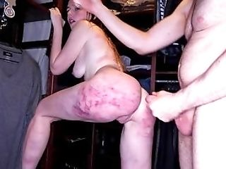 Spanked Nubile Gets Savagely Fucked In Both Fuck-holes