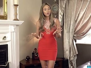 Bodacious Brit Stunner Natalia Forrest Takes Off Her Sundress And Shows Her Round Bootie And Mouth-watering Slit