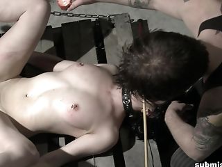 Hot Paraffin Wax Breast Torture For Tied Up Dark Haired Teenager Tart Cheri Rose