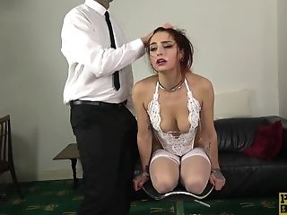 Ginger-haired Wifey Car Neck Corset Loves To Be Used And Manhandled Like A Bottom