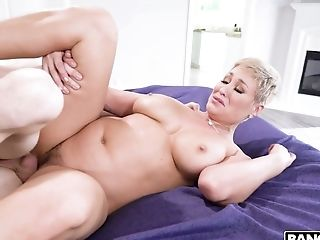 Youthful Dude Caught Nomable Stepmom Ryan Keely Masturbating Cunt