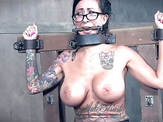 Servant Lily Lane Strapped To A Pole And Manhandled With Electric Current