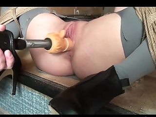 Ally Strapped Whipped Dildoed Vibed Machine-fucked