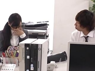 Black-haired Businesswoman From Japan Takes It In Every Position