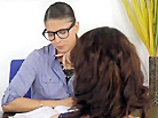 Lesbian Domination Instructor Fingerfucks A Sub Student
