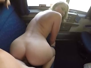 Hot Quickie In The Train With Horny Blonde Alyssa Cole