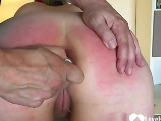 First-timer Horny Wifey Gets Bum Spanked By Her Superior Hubby