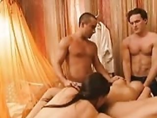 Hot Cutie Learning Stripper Pole Lessons In 4some Mansion