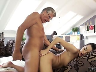 Old Fart Likes Fucking Nice Stepdaughter's Gf Jessica