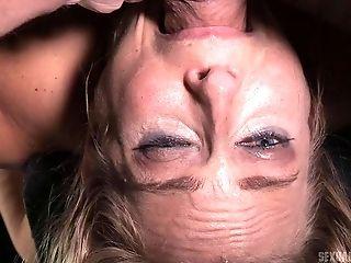 Voluptuous Blonde Angel Is Down For Some Bondage & Discipline Joy In The Black Room