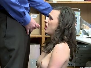 Pretty Hot Dark-haired Alex More Is Penalized Hard For Shoplifting
