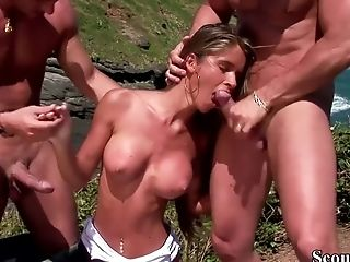 Extrem Hot Teenage Fuck Rectal And Cooter At Beach In Threesome