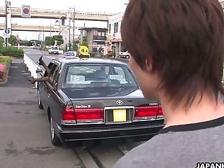 Rich Bitch From Japan Jun Kusanagi Gives A Rail To The Dude And Gargles His Dick