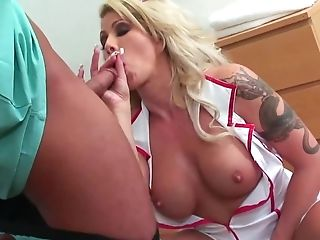 Blonde Nurse And The Surgeon Have Just Enough Time For A Quickie